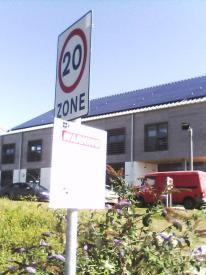 Private parking signs fitted to speed limit signs. North Quay Hayle